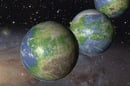 Artist's impression of Earth-Like worlds. Pic: NASA, ESA, and G. Bacon (STScI)