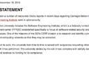 Carnegie-Mellon University's statement