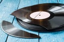 Broken record, image via Shutterstock
