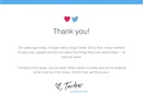 Twitter's 10th birthday message to users