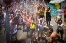 RIO DE JANEIRO, Brazil - January 31, 2016: with a lot of Brazilians celebrate carnival in animation block Slaves of Maua, in the parade through the streets of the city center of Rio de Janeiro. Photo by Ronaldo Almeida / Shutterstock.com  - EDITORIAL USE ONLY