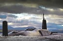 HMS Vengeance returns to HMNB Clyde. Crown copyright