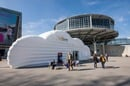 Pic of Amazon's cloud booth in Hanover, Germany, Pic by drserg/shutterstock, for editorial use only