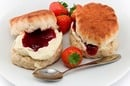 Scones with jam and cream. Photo by Shutterstock