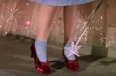Ruby slippers from wizard of Oz