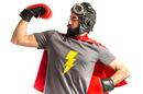 Nerd super hero photo via Shutterstock