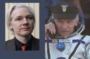 Jeff Williams Photo credit: NASA tv. Julian Assange photo credit: Cropped pic by Espen Moe licensed under CC2.0