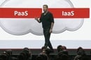 Oracle Chair Larry Ellison on stage at OpenWorld 2016