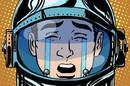 Weeping astronaut illustration via Shutterstock