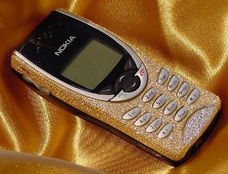 Jewel-encrusted Nokia phone