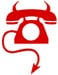 BOFH logo telephone with devil's horns