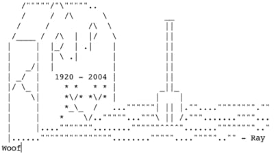 ASCII picture of tombstone