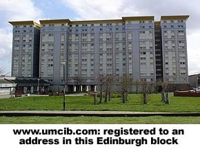 www.umcib.com: registered to this Edinburgh block