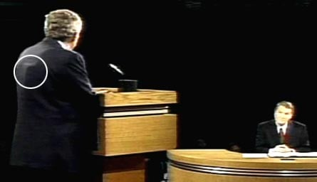 Image result for Bush's mysterious bump during debate