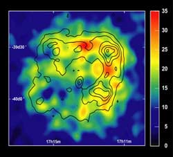 Gamma rays from a supernova