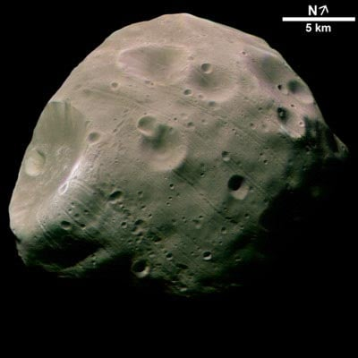 Phobos, captured by ESA?s Mars Express