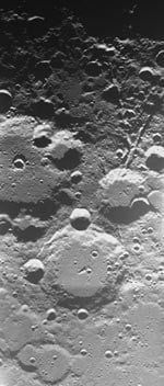 First European pictures of the moon: Source ESA