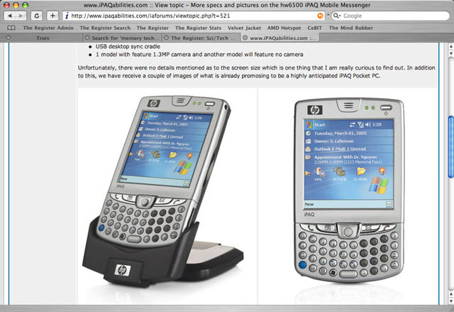 HP iPaq hw6500 Mobile Messenger