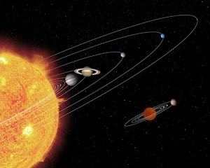 A NASA artist's impression of a miniature solar system