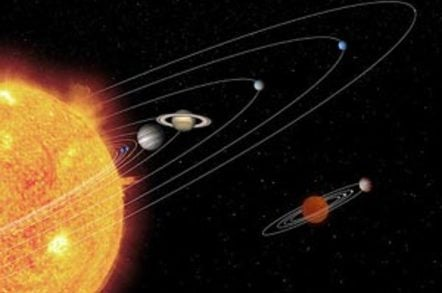 A NASA artist's impression of a miniature solar system