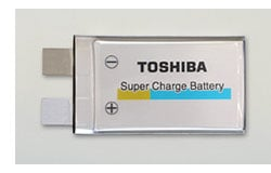 Toshiba new battery