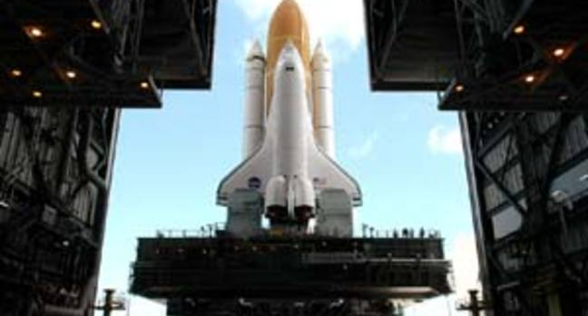 Discovery makes its exit: NASA