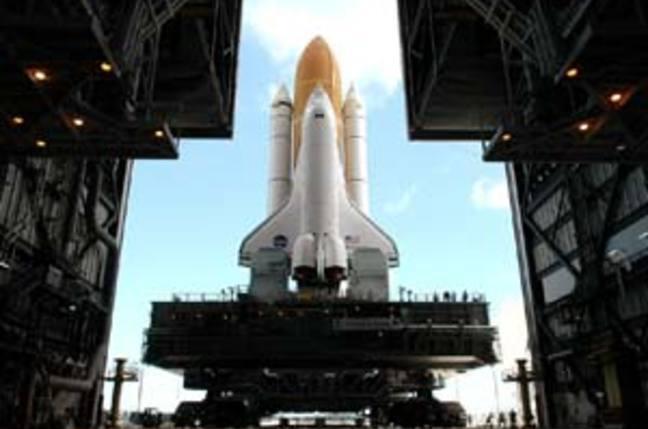 Discovery makes its exit: NASA