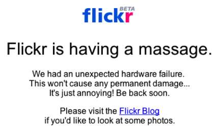 Flickr - we're sorry again