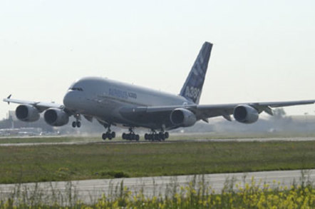Airbus A380 lift-off. Picture courtesy of Airbus