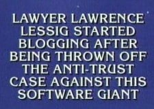 Nationwide fame: Lessig on Jeopardy