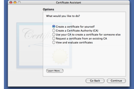 Certificate Assistant
