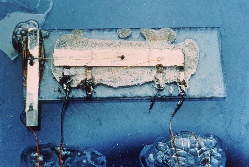 Kilby's first integrated circuit