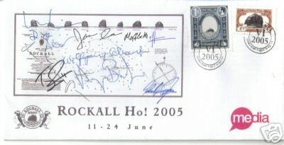 That signed Rockall Ho! 2005 first day cover in full