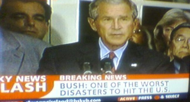 Bush according to Sky News