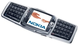 Nokia E70, with keyboard open