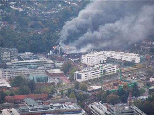 Southampton Uni research centre blaze