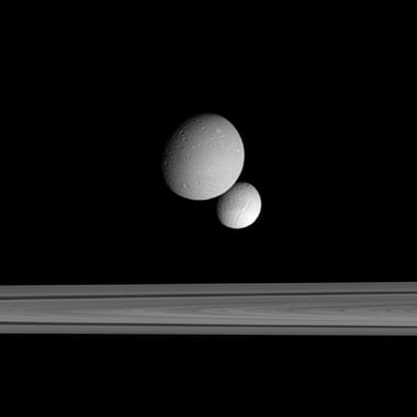 Dione, Tethys and the Cassini Division
