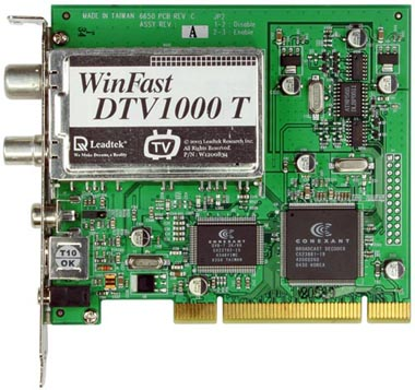Leadtek DVT1000 T digital TV tuner card