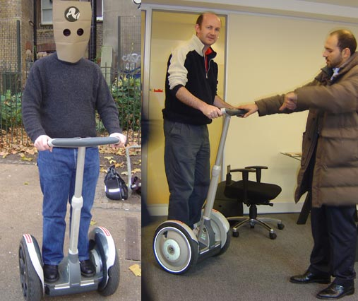 The Segway comes to Vulture Central