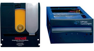 Maxell holographic storage system