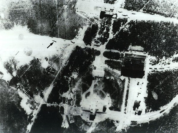 The V-2 launch facility before RAF bombing raids