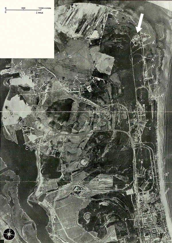 Peenemunde as captured by the RAF