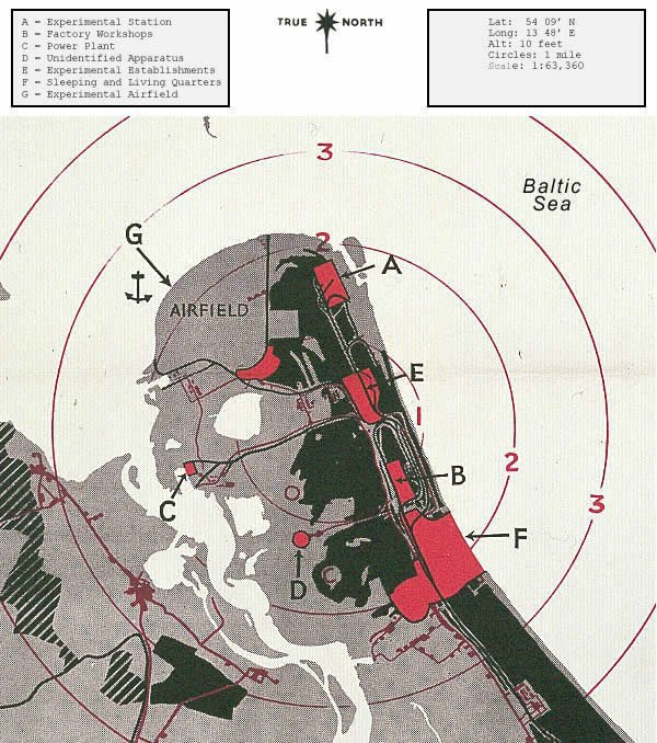 The RAF's 1943 bombing map of Peenemunde