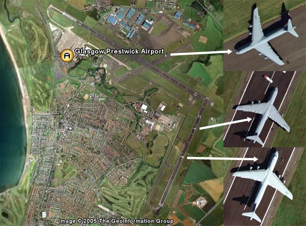 Three C-5 Galaxies seen at Prestwick