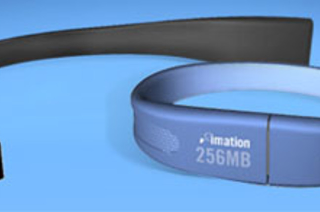 imation flash wristband usb storage