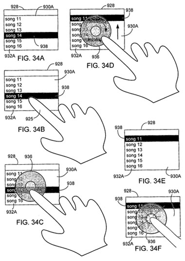 apple gesture ui for touchscreens