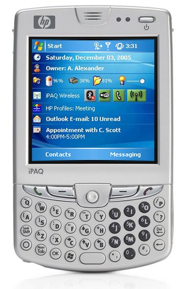 hp ipaq hw6900 mobile messenger