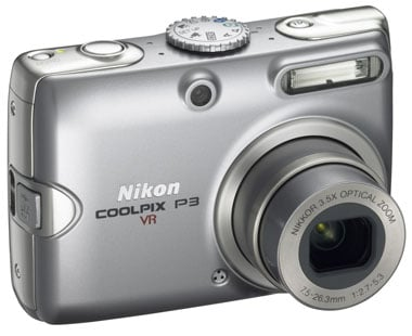 nikon coolpix p3 digital camera