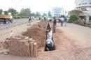 Photo of workers laying fibre in Rwanda