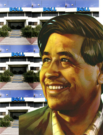 Cesar Chavez admiring Dell factories